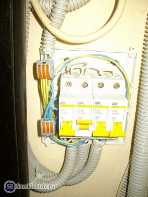 Новый электрощит с подключениями через зажимы Wago