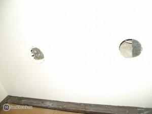 Отверстие в гипсокартоне под точечный светильник (2 неудачи)
