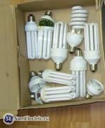 Поломанные лампы ждут ремонта