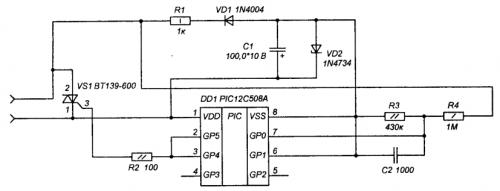 Радиолюбитель_Схема2 устройства полной защиты ламп освещения