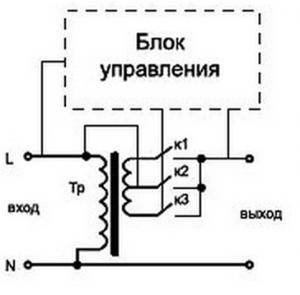 Схема релейного стабилизатора напряжения 220 В