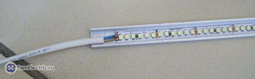 Устройство и подключение питания светодиодной ленты