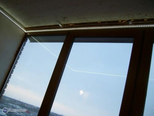 LED лента перед установкой натяжного потолка